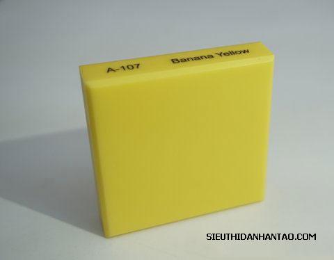 Đá nhân tạo Solid surface A107 Banana Yellow