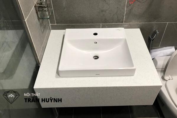 Lavabo đá nhân tạo đẹp cho nhà tắm