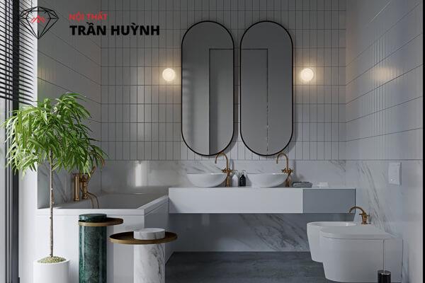 Lavabo đá nhân tạo đẹp cho phòng tắm