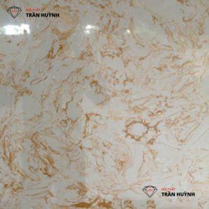 Đá marble nhân tạo trắng vân vàng