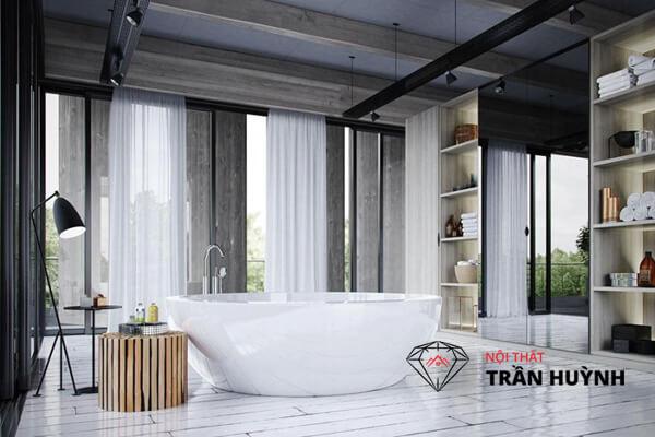 Đá nhân tạo làm bồn tắm